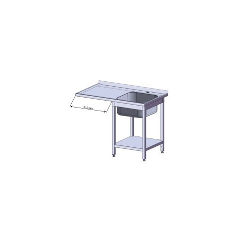 Stół z miejscem na lodówkę lub zmywarkę 1200x600x900