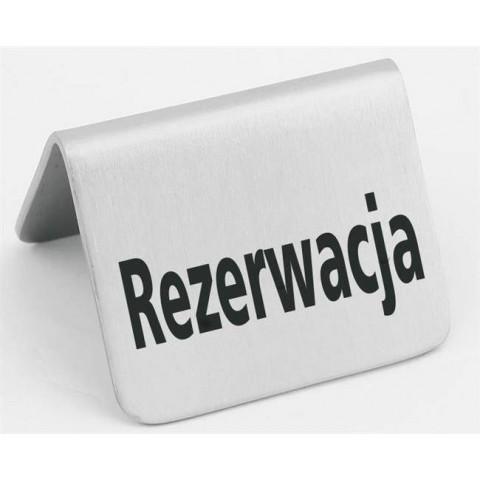 """Tabliczka informacyjna """"Rezerwacja"""""""