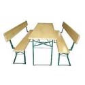 Zestaw biesiadny Standard (Stół + 2 ławki z oparciem)