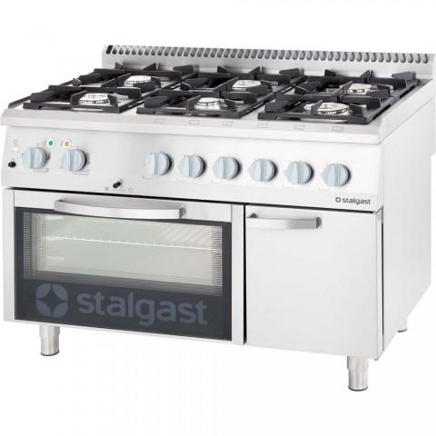 Kuchnia Gazowa 6 Palnikowa Wym 1200x700x850 Z Piekarnikiem