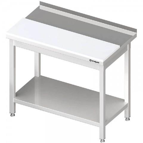 Stół przyścienny z płytą polietylenową,i półką 1600x700x850 mm spawany