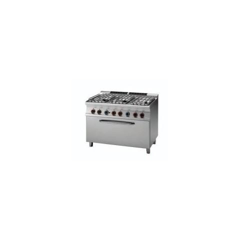Kuchnia gazowa z piekarnikiem gazowym 3 x GN 1/1, CF6-712G/P