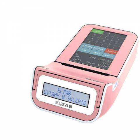 Kasa ELZAB K10 online BT/WiFi róż/biały