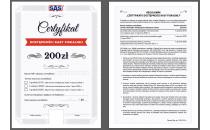 Certyfikat dostępności kasy fiskalnej online