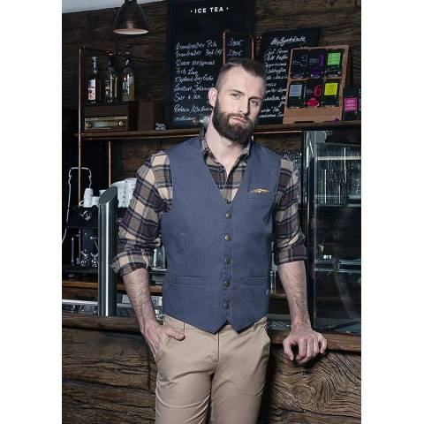 Męska kamizelka Jeans-Style WM 3 kolor czarny vintage rozmiar 54