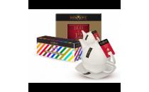 Zestaw upominkowy RICHMONT/ zestaw porcelanowy + 12 herbat