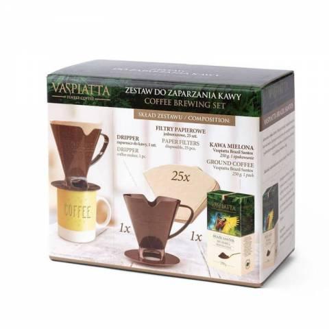 Zestaw do zaparzania kawy VASPIATTA BRAZIL SANTOS