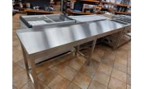 Stół przyścienny bez półki 2400x600x850 mm spawany WYPRZEDAŻ