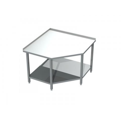 Stół narożny z półką 0404 EKO 600x600x850mm