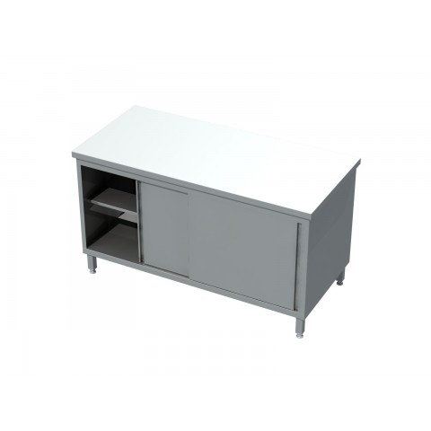 Stół-szafka przelotowa, drzwi suwane 0413  EKO 800x600x850