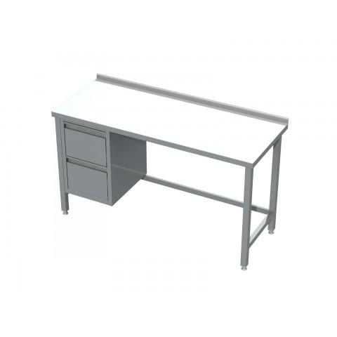 Stół z blokiem 2 szuflad 0420 EKO 1300x700x850mm