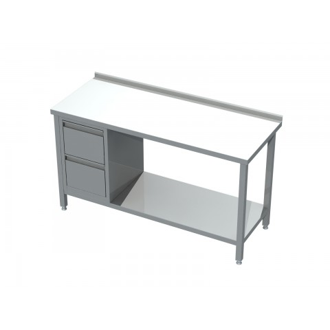 Stół z blokiem 2 szuflad i półką 0421 EKO 800x600x850mm
