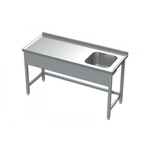 Stół ze zlewem 0500  EKO 900x600x850mm