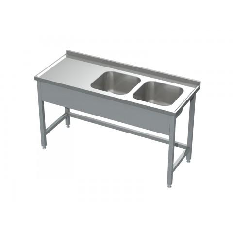 Stół ze zlewem 2-komorowym 0506  EKO 1100x600x850mm