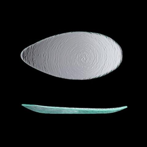 SCAPE Glass talerz owalny 30cm przeźroczysty /6