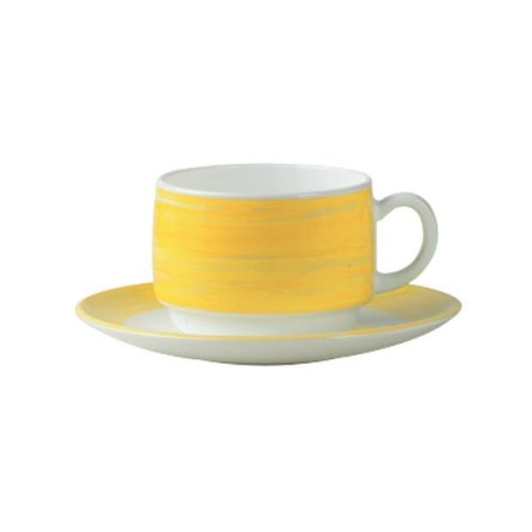 BRUSH Filiżanka żółta 190ml 12/48