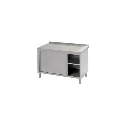 Stół przyścienny z drzwiami suwanymi 1400 x 600 x 850mm [STALGAST]