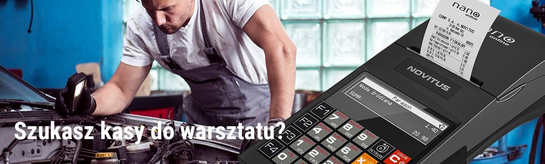 Kasy fiskalne online Novitus do warsztatów samochodowych
